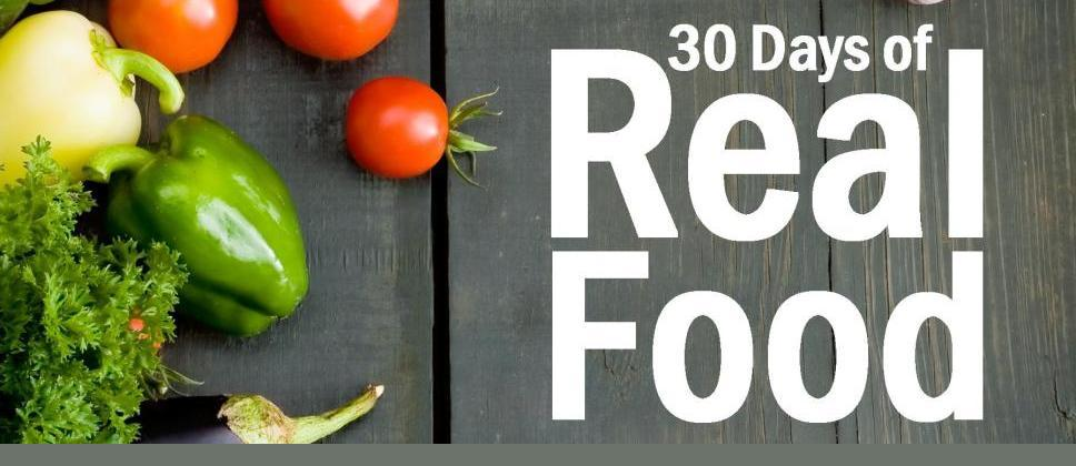 30 days of real food banner
