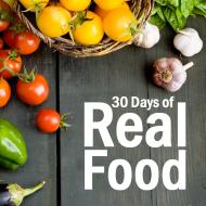 30 days of real food button
