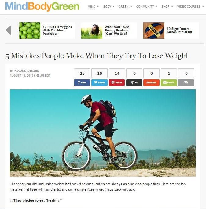 5 Mistakes People Make When They Try To Lose Weight