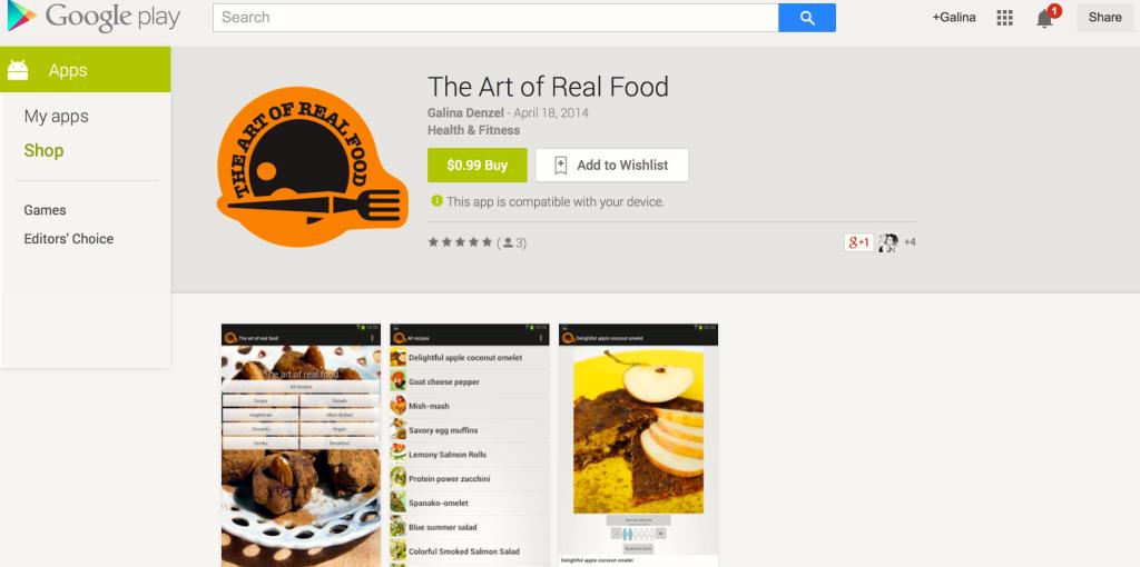 art of real food app