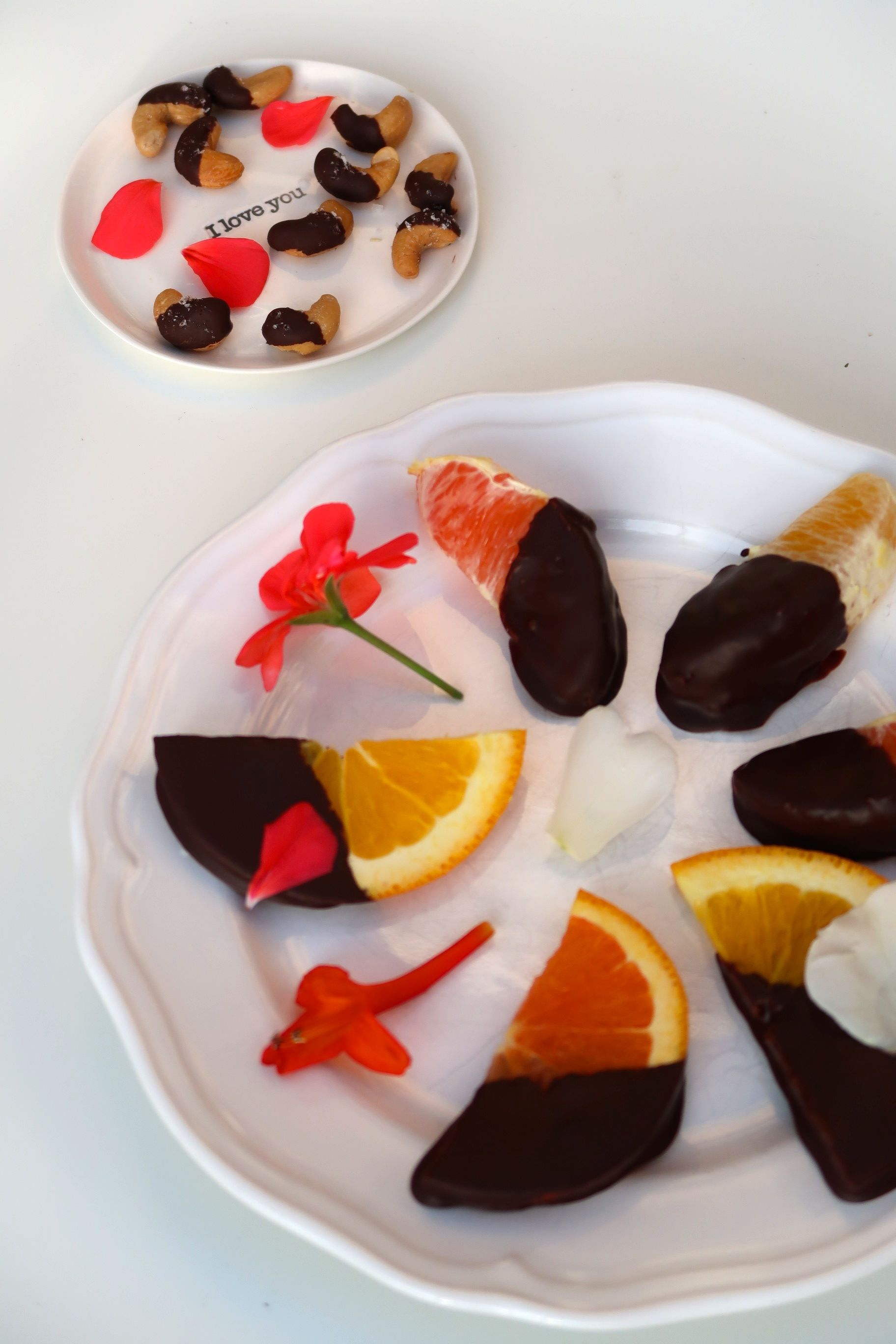 chocolate dipped fruit nuts healthy and delicious dessert for Valentine's Day