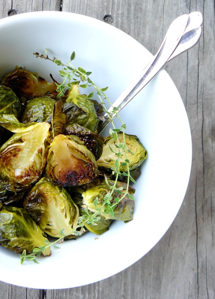 sweet and hot brussel sprouts