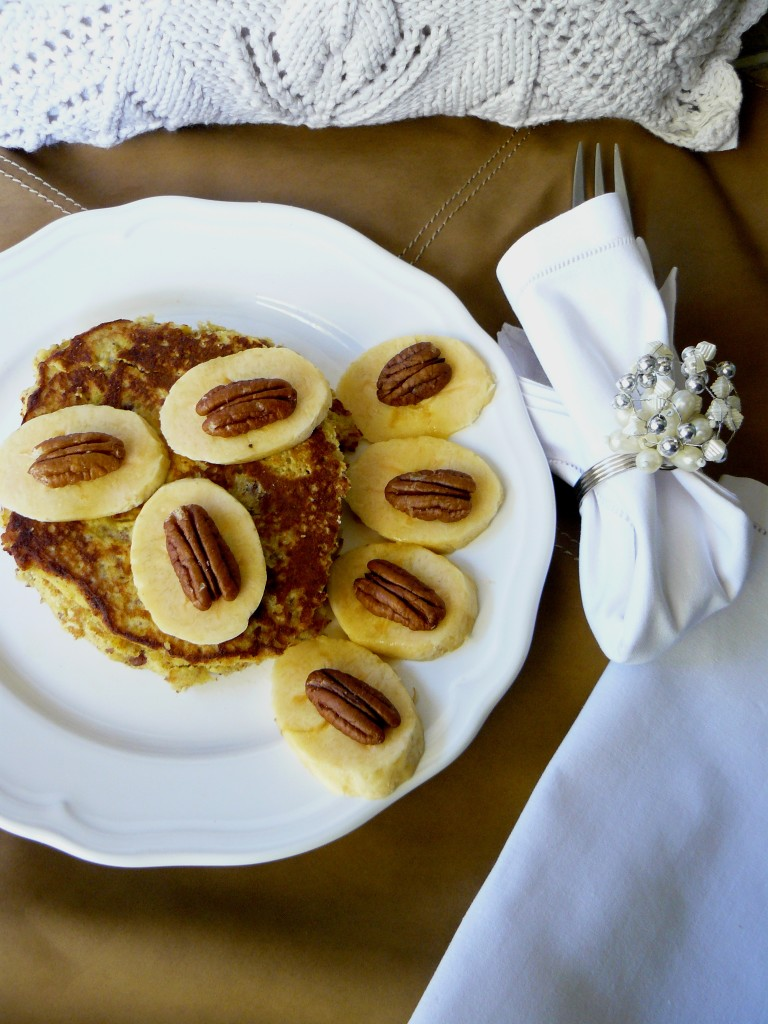 plantain pecan coconut pancakes