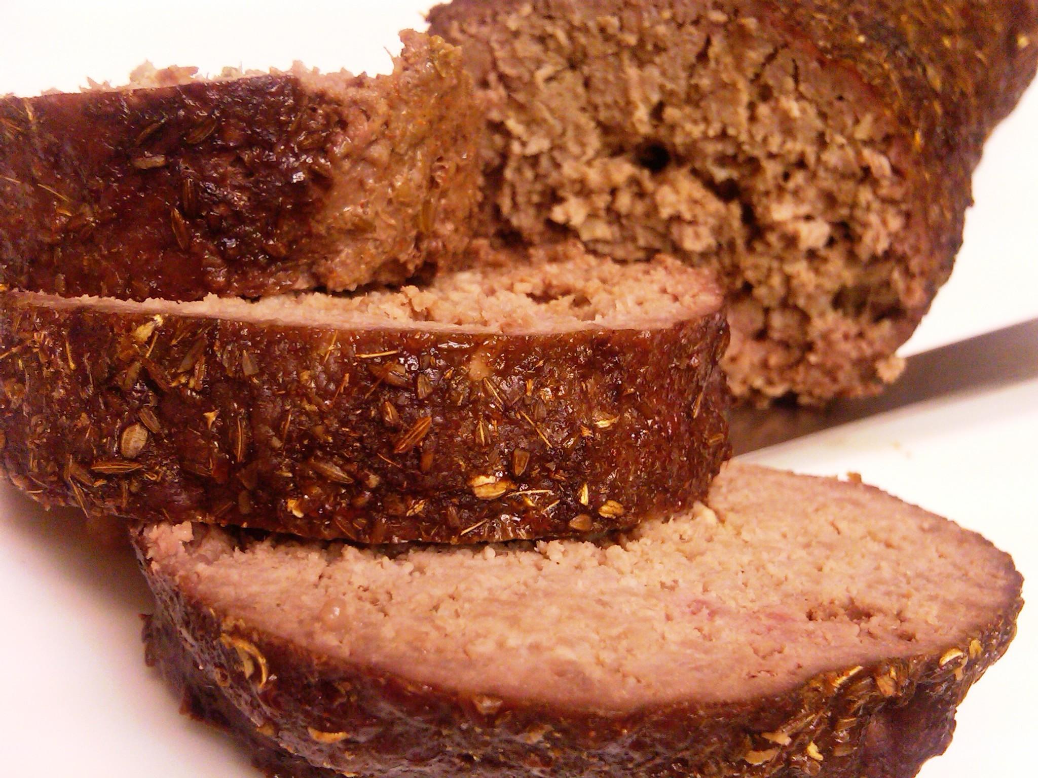 chub rub meatloaf sliced